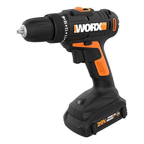 WORX WX101L.4 20V Cordless Drill Driver with 30 Drilling&Driving Bit Set Battery and Charger Included