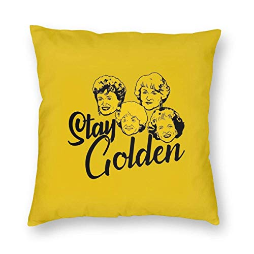Wild At One Golden Girl Cushion Covers Cotton Polyester Sofa Soft Pillow Cases for Home Soft 18X18 inch
