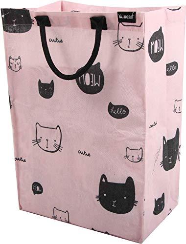 Minene Wasserij Mand, Roze Katten