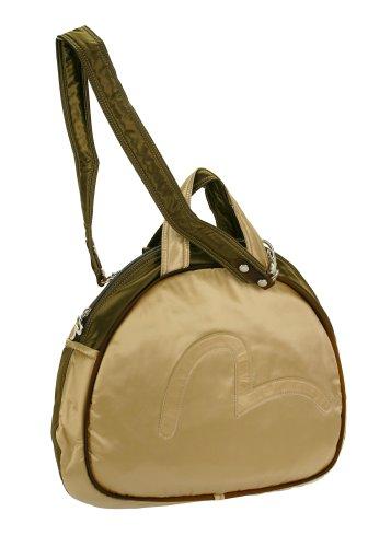 EVISU x Mandarina Duck Bowling Bag Damen-Tasche Schultertasche Handtasche Gold-grün