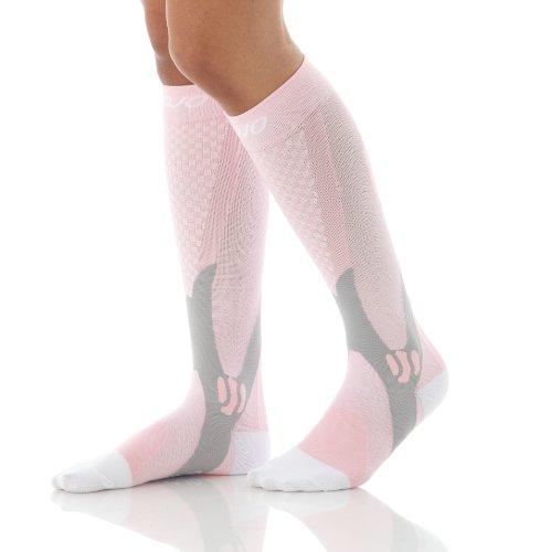 Mojo Compression Socks for Women 20-30mmHg Pink, Medium