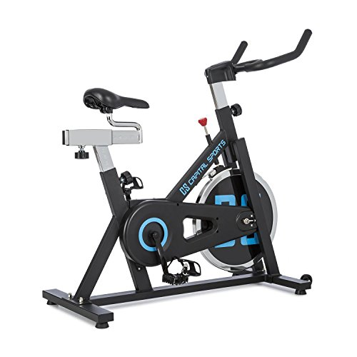 Capital Radical Arc X13 - Indoor Bike, Cyclette ergonomica, Home Trainer, Grado di Training, Fino a 120 kg, manopola Inclusa, Sella Regolabile, Disco del volano con 13 kg, Nero