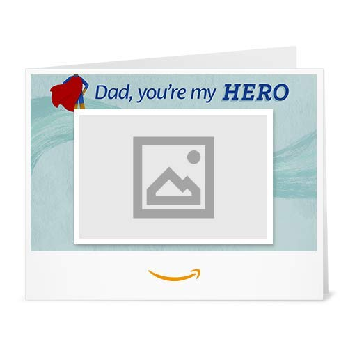 Amazon Gift Card - Upload Your Photo (Print) - Father's Day Superhero Dad
