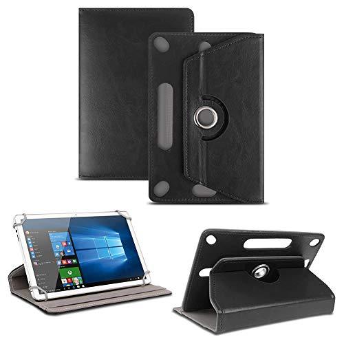 NAUC Tablet Tasche für Captiva Pad 10 3G Plus mit Ständerfunktion Hülle Schutztasche Schutzhülle Stand Tasche Etui Cover Hülle 360° drehbar, Farben:Schwarz