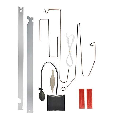 Homyl 車のドアのロックアウト緊急オープン ロック解除キーツールキット - 9個キット + 空気ポンプ
