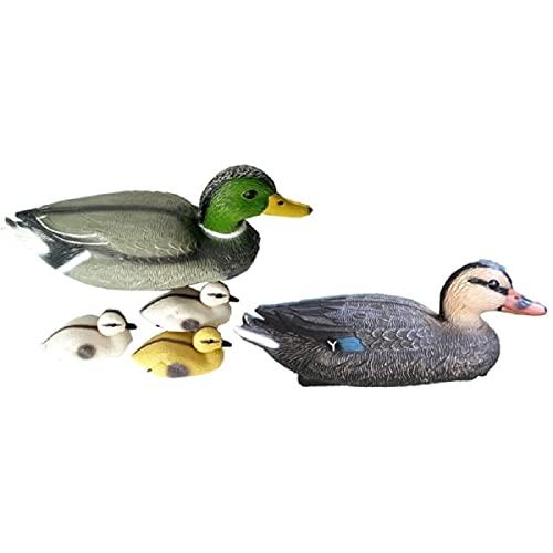 Schwimmenten-Familie für Teich 5-teilig, Deko-Enten aus Kunststoff