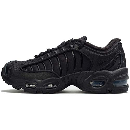 Nike Air Max Tailwind Iv (gs) Big Kids Casual Running Shoes Bq9810-004 Size 4 Black/Black/Black