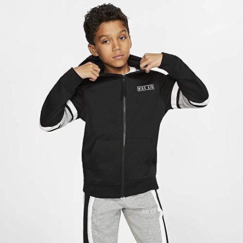 NILCO #Nike Air FZ sotto Giacche sotto Giacche per Bambini, Unisex Bambini, Black/Dk Grey Heather/White/Wh, XS