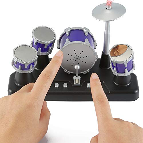 2. Liberty Imports Electronic Mini Finger Drum Desktop