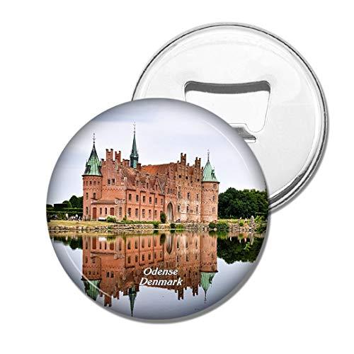 Weekino Schloss Odense Dänemarks Egeskov Bier Flaschenöffner Kühlschrank Magnet Metall Souvenir Reise Gift