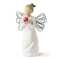 Sentiment: Thank you for making a difference written on enclosure card 5.5 Inch hand-painted resin figure with wire wings; ready to display on a shelf, table or mantel; to clean, dust with soft brush or cloth A gift to express appreciation and thankf...