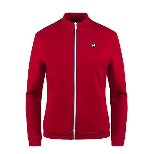 Le Coq Sportif ESS FZ Sweat N°1 W Pur Rouge Sudadera, Mujer, L