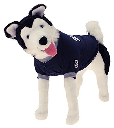 Sporty K9 MLB Baseball Dog Jersey, San Diego Padres Large