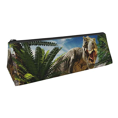 Dinosaur Pencil Case Cool Pencil Pouch Durable Triangle Pen Bag Lightweight Office Supplies Stylish Cosmetic Bag for School Teen Girl Boy Idea Gift for Back to School Season