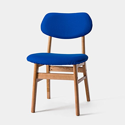 ZHANGRONG- Chaises pliantes en bois de Housewares pour le café, le bistro, le dîner, le restaurant -Tabouret de canapé (Couleur : Bleu, taille : A)