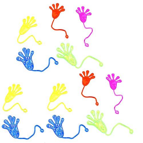 Limeow Klatschhand Klebehand Kinder Klatsch Klatschhände klebrige Hände Mitgebsel Mitbringsel Kindergeburtstag für Kinder Klatschhand für Kinder Kindergeburtstag(12 insgesamt) Zufällige Farbe