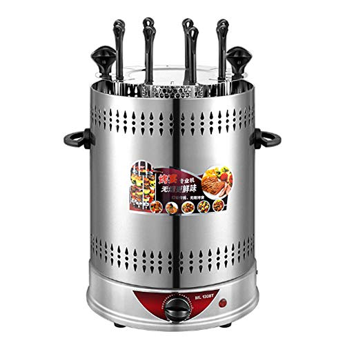 The Best Electric Grill, Smokeless, Environmentally Safe Household Multifunctional Barbecue Grill, Full-automatic and Rotation Mutton Kebab Indoor Grill (Timing with 8 barbecue forks)