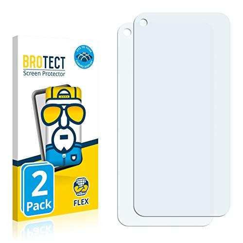 BROTECT Full-Cover Schutzfolie kompatibel mit Google Pixel 5 (2 Stück) - Full-Screen Displayschutz-Folie, 3D Curved, Kristall-Klar