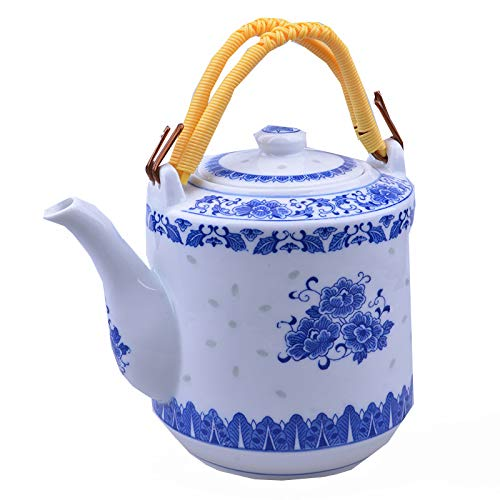 Articles for daily use Ceramic Teapot, Chinese Nostalgic Blue and white Porcelain 2000ML Tea Kettle, can Make a Variety of Tea