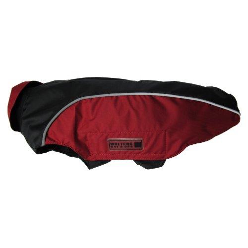 Wolters | Regenjacke Easy Rain in Schwarz/Rot | Rückenlänge 36 cm