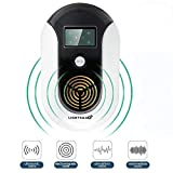 2019 NEW UPGRADED Pest Control Ultrasonic Repeller for Mosquitoes, Mice, Ants, Roaches, Spiders, Bugs, Flies, Insects, Rodents, Pest Control Ultrasonic Repeller Safe for Human & Pets