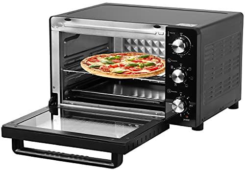 30 Liter Mini Backofen   120 min. Timer   1500 Watt   Pizzaofen   Innenbeleuchtung   Minibackofen   Inkl. Backblech und Grillrost   Kleiner Backofen   Herausnehmbares Krümelblech