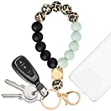 YUOROS Key Chain Bracelet Key Ring Wristlet for Women to Hold Smartphone Car Key (Leopard)