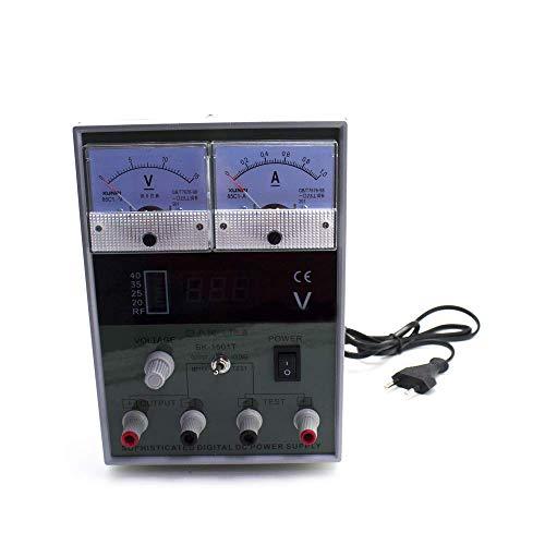 BAKU-1501T Fuente Alimentación Regulable (Potencia 15W,Medición de Voltaje, Detección de la Señal de Radiofrecuencia, Voltaje 220 ,Salida Múltiple Input, Diseñada para Teléfonos Móviles, Equipos Electrónicos, Control de Voltaje) - Gris