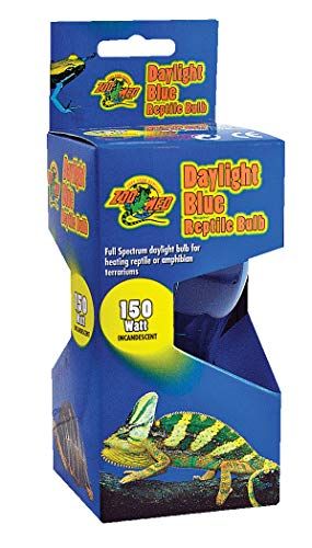Fluker Labs SFK22404 Reptile Incandescent Daylight Bulb for Pet Habitat, 150-watt, Blue