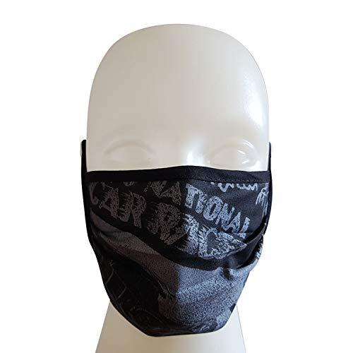 Mund Nasen Maske Gesichtsmaske 2-lagig Baumwolle waschbar mit Bindeband (1)
