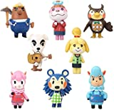 Valibe 8 Pcs Animal Crossing Action Figure Set - Animals Crossing Kids Toys Cake Toppers Collection Playset