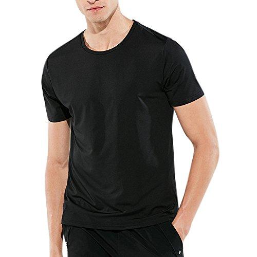 Libertepe Herren Sports T-Shirt Wasserdichtes Kurzarm Rundhals Schnelltrocknend Shirt Hydrophobe Wasserdicht Atmungsaktive Sommerhirts