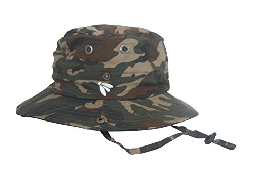 Bughat - Traditional Boonie Mosquito Net Hat - Safari Camo - Adult Small/Medium - Outdoor Hat - Sun and Bug Protection - Boonie Hat - bug hat