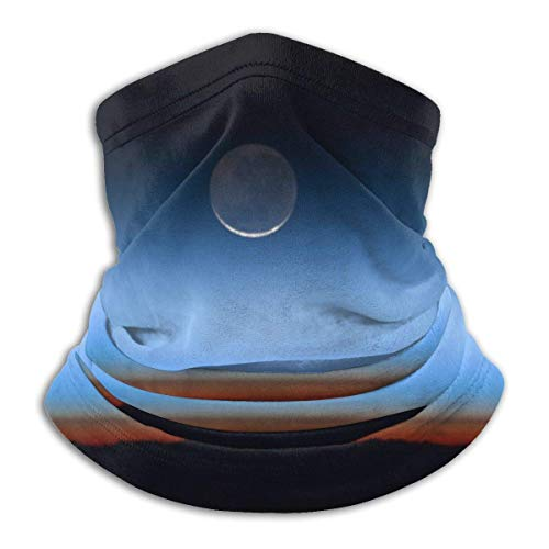 C-WANG Moon on The Horizon Earth Summer Face Cover Neck Gaiter Face BandanasTube Headwear Bandana for Dust Wind Sun Protection