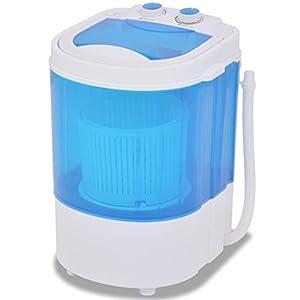 mewmewcat Mini Machine à Laver à Cuve capacité 2 kg Bleu et Blanc pour Les Cuisines caravanes et Les campeurs