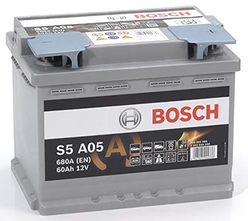 Bosch Batteria per Auto S5A05 Start&Stop AGM 60A / h-680A