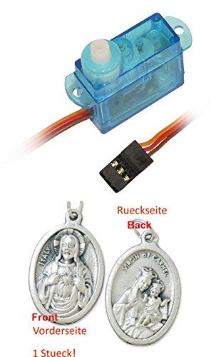 Sintr Servomotor Analog Kunststoffgetriebe für RC-Modelle, Modellbau (902977206167) mit Anhänger Herz Jesu 2,5cm