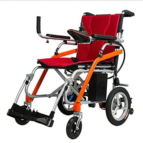 ABCD Silla de Ruedas Plegable Ligera de aleación de magnesio, Scooter eléctrico de Cuatro Ruedas para discapacitados y Ancianos, Plegable en un Solo Paso, pesando Solo 15 kg