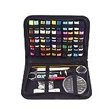 mailfoulen 128 piezas Kit de costura Botones Tijera Cinta Medida Dedales Aguja Hilo Set Mano Quilting Costura Bordado Herramientas