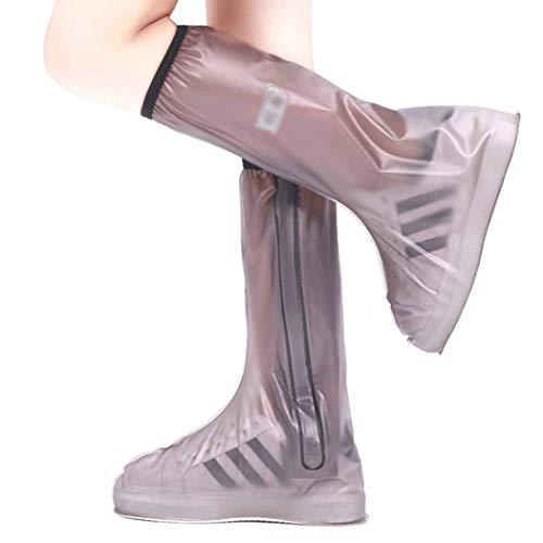 QHYY antislip hoge laarzen antifouling waterdichte schoen Cover draagbare siliconen schoen
