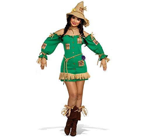 Dreamgirl Damen Kostüm Vogelscheuche Henriette Kleid grün Fasching Karneval S, M, L, XL (M)