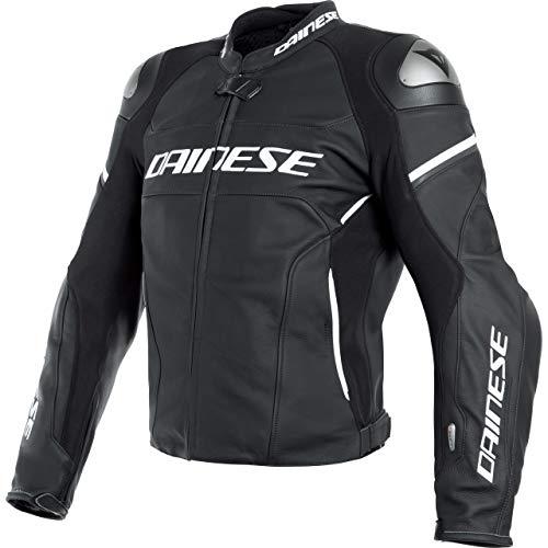 Dainese Motorradjacke mit Protektoren Motorrad Jacke Racing 3 D-Air Lederjacke schwarz 52, Herren, Sportler, Sommer