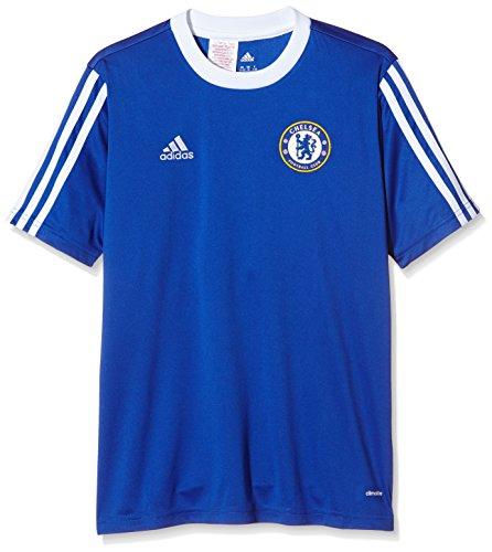 adidas Jungen T-Shirt CFC Youth Jersey Kurzarm Trikot, Bold Blue/White, 164