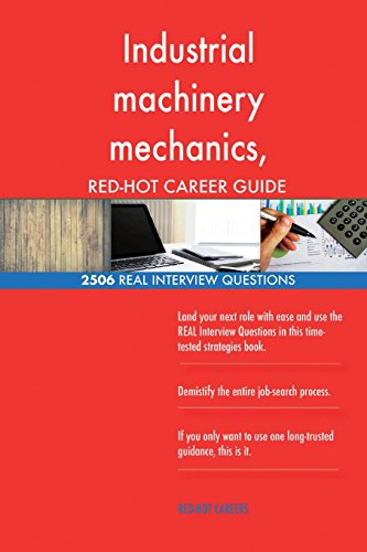 Industrial machinery mechanics, machinery maintenance workers, and millwright RE