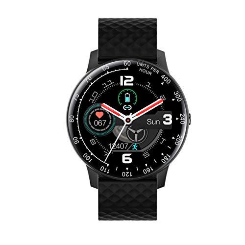 DBSUFV Smart Watch, Pantalla táctil de 1,4 Pulgadas, rastreadores de Actividad física con Monitor de frecuencia cardíaca, Resistente al Agua IP68, Reloj con podómetro, cronómetro (Negro)