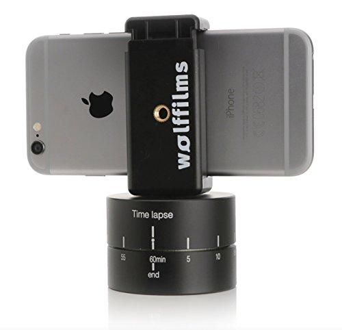 Arktis Wolffilms 360 Grad Panorama-Stativ Zeitraffer Timelapse Stand SUPERSLOW 120 Minuten kompatibel mit Apple, Samsung, HTC, Nokia, LG, Huawei, etc.
