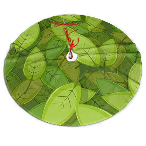Pengyong Falda de árbol de Navidad sin Costuras, Hojas de ...
