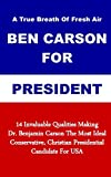 A True Breath Of Fresh Air - Ben Carson For President: 14 Invaluable Qualities Making Dr. Benjamin Carson The Most Ideal Conservative, Christian Presidential Candidate For USA