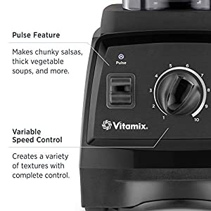 Vitamix 7500 Low-Profile Blender, Professional-Grade, 64 oz. Container, Black