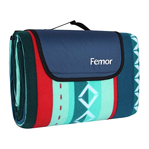femor Large Picnic Blanket with waterproof backing 200 x 300 cm, Outdoor...